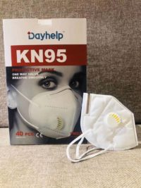 1 Packet(40 pcs) of Day Help KN95 Protective Mask with valve(reusable)